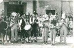 Reinerio gaiteru de Cuturrasu y al tambor Tonana ambos de Llangréu